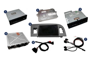 Nachrüst-Set MMI Basic (Plus) MMI High für Audi Q7 4L